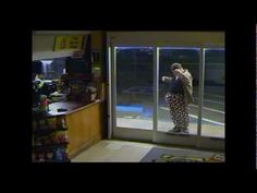 Redding police released this surveillance video of a bumbling and oddly dressed burglary suspect who threw a rock earlier in March 2013 at the glass front door of Kents Market on Airport Road.  The full story: http://www.redding.com/news/2013/mar/27/video-captures-bumbling-burglary-suspect/