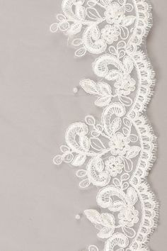 Wedding Designs Beautiful chapel wedding veil with lace edging. Tier: 1 tier veil Type of veil: Chapel train Length: 110 inches Material: Tulle - Size Chart Chapel Wedding, Wedding Veil, Lace Drawing, Wedding Invitation Background, Chapel Length Veil, Types Of Lace, Tambour Embroidery, Embroidery On Clothes, Lace Veils