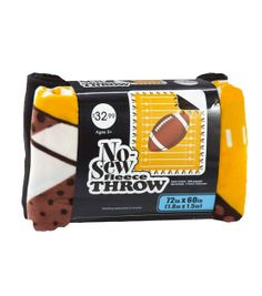 72'' No Sew Throw- Orange & Football & No-Sew Fleece Kits at Joann.com