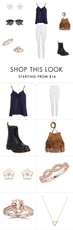 """""""casual"""" by ikatsamaki on Polyvore featuring Sans Souci, Topshop, Dr. Martens, H&M, Accessorize, Blue Nile, Bliss Diamond, Wanderlust + Co and Ray-Ban"""