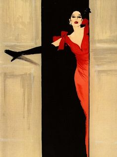 Rene Gruau, Vogue (1947)...awesome artist..... did more with less
