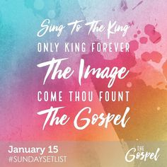 Want to know what songs we are singing on Sunday? Well here is the #SundaySetList! Find it on Spotify to start singing along!