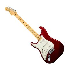 Fender Standard Stratocaster Left-Handed with Maple Fingerboard - Candy Apple Red American Standard Stratocaster, Fender American Standard, Candy Apple Red, Van Halen, Left Handed, Guitars, Hands, Theater, Music