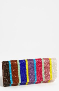 Moyna Beaded Stripe Clutch available at #Nordstrom