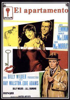 """""""El apartamento"""" (1960) dirigida por Billy Wilder. Con Jack Lemmon, Shirley MacLaine, Fred MacMurray, Ray Walston, Edie Adams, Jack Kruschen, Joan Shawlee"""