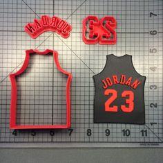 Jordan Jersey 100 Cookie Cutter Set