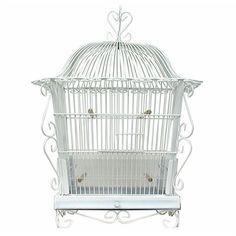 Bird Cage White Vintage Art Deco Victorian Style