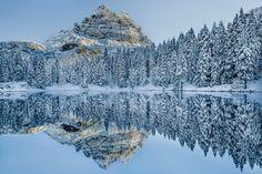 Morning reflection - One beautiful morning in Lago Antorno Italian Dolomite ,Tre Cime Misurina area