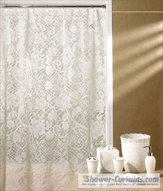 Etonnant Lace Shower Curtain
