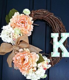 Personalized Wreath by PKNISKERN on Etsy, $50.00