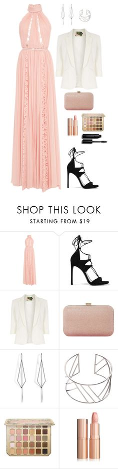 """""""You are never fuly dressed without a smile"""" by chase-stars ❤ liked on Polyvore featuring Elie Saab, Stuart Weitzman, Jolie Moi, Dune, Diane Kordas, John Lewis and Bobbi Brown Cosmetics"""