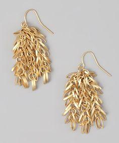 Gold Multi-Link Hanging Earrings by Marlyn Schiff