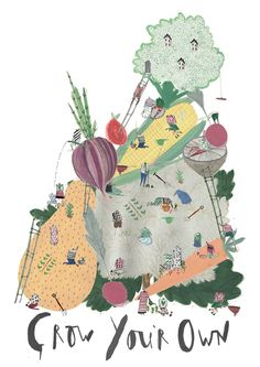 amyisla:  Poster promoting growing your own vegetables for a healthier lifestyle!