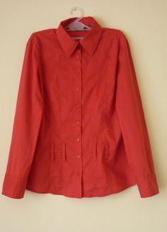 Kup mój przedmiot na #vintedpl http://www.vinted.pl/damska-odziez/koszule/13720410-elegancka-czerwona-koszula-damska-l