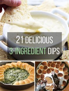 21 Delicious 3-Ingredient Dips