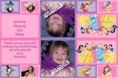 Princess Collection Party Favors Candy Bag Labels
