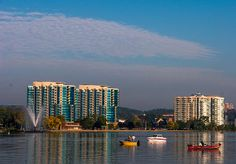 Kempenfelt Bay waterfront, Barrie Ontario Canada.