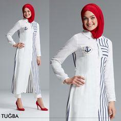 Doğal dokular ve natural kumaşlarda öne çıkan Tuğba şıklığı! H6596 Tuğba Tuniğe tüm Tuğba mağazalarından ulaşabilirsiniz Eid Outfits, Hijab Fashion, Muslim, High Neck Dress, Dresses With Sleeves, Long Sleeve, How To Wear, Clothes, Design