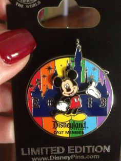 Disney Cast Member Mickey Mouse Castle Rainbow Pin Limited Edition