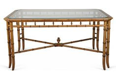 Faux-Bamboo Writing Table on OneKingsLane.com
