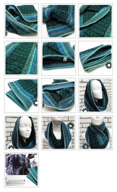 Weaved tube scarves in patterns / Kominy tkane we wzorki - Tender December Tube Scarf, Future Trends, Everyday Objects, Jewelry Crafts, Scarves, December, Patterns, Knitting, Unique