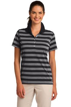 739afc035 Nike Golf Ladies Dri-FIT Tech Stripe Polo Style 578678 - Casual Clothing  for Men, Women, Youth, and Children