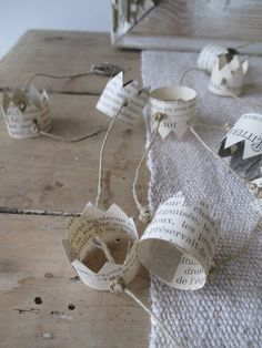 paper crown garland - too cute!