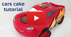 This is a cake that looks too good to eat! I'm so impressed. Lightening Mcqueen Birthday Cake, Lightning Mcqueen Cake, Mc Queen Cars, Car Cake Tutorial, Disney Cars Cake, 2nd Birthday Parties, Birthday Cakes, Birthday Ideas, Character Cakes