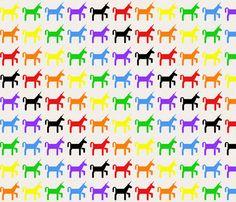 Unicorn Rainbow! fabric by dragonchow on Spoonflower - custom fabric