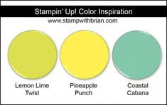 Stampin' Up! Color Inspiration: So Saffron, Powder Pink, Pear Pizzazz Color Melon, Color Magenta, Color Combinations, Color Schemes, Collor, Ink Stamps, Color Blending, Powder Pink, Lemon Lime