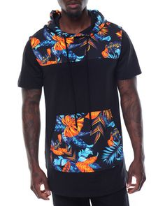 Buy S/S Floral print Scoop Hoodie Men's Shirts from Buyers Picks. Find Buyers Picks fashions & more at DrJays.com