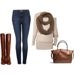 Riding boots and infintiy scarf :)