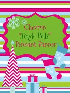 Perfect Banner for a different Christmas theme other than green and red! This is such a cute banner! $2.50