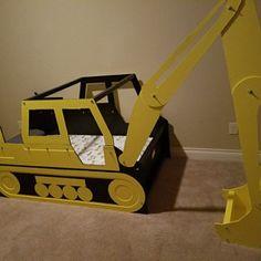 Excavator twin bed frame