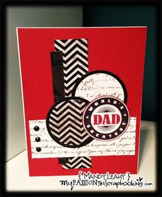 Father's Day Card using Close To My Heart Perfect Fit-Dad Stamp Set and For Always Paper Pack #mojomonday  {Created by Mandy Leahy}