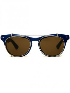 "Illesteva ""Lenox"" sunglasses in blue"