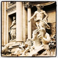 My photo of Rome's Trevis Fountain — put through Instagram.  See the rest of my photography portfolio on RedBubble: http://www.redbubble.com/people/felinemind