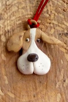 Beagle  Puppy Dog Pendant or Beagle ornament by sugargrovepottery, $12.00