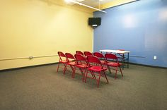 Our acting studios feature ten rooms of differing sizes, each of which can be tailored to your specific needs. Whether you are hosting rehearsal, a casting session, or a class, we can provide the right environment for you.