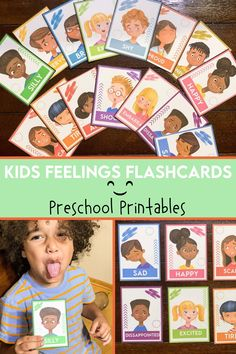 These colorful learning printables contain Kids Feelings and Emotions. These printable flashcards are great for helping kids to express how they are feeling from day to day. This can be used for a homeschooling resource daily. Feelings Chart, Feelings And Emotions, Toddler Learning, Fun Learning, Printable Flashcards, Emotional Child, Classroom Posters, Preschool Printables, Homeschooling