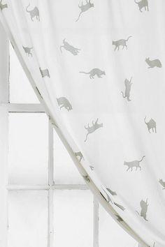 Plum & Bow Kitty Curtain