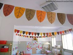 Fall Classroom Ceiling Decorations Oh Decor Curtain Classroom Classroom Ceiling Decorations, Kindergarten Classroom Decor, Classroom Decor Themes, School Decorations, Toddler Classroom, Fall Preschool, Class Decoration, Autumn Crafts, Autumn Activities