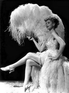 Lucille Ball, a wonderful comedian and a model before she made it big.