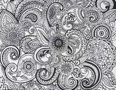 Paisley Ink Drawing by danastrotheide on Etsy,