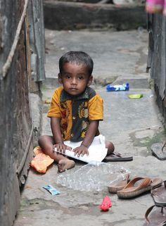Boy in Korail slums, Dhaka, Bangladesh