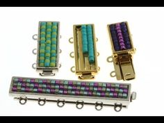 How to Glue Beads into Delica Clasps #Seed #Bead #Tutorials