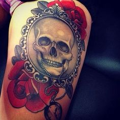 Skull and roses!