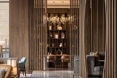 View the full picture gallery of Hyatt Regency Beijing Shiyuan Lobby Interior, Interior Design, Wood Truss, Natural Stone Flooring, Private Dining Room, Wood Stone, Big Windows, Roof Design, Hotel Lobby