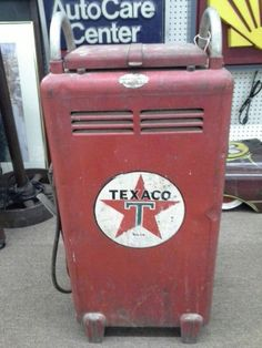 $250 - From an old gas station we have a vintage Texaco battery charger. A unique piece for the man cave. It measures 14 inches across the front, 9 inches deep and stands 33 inches to the tallest point. It can be seen in booth F 20 at Main Street Antique Mall 7260 East Main St ( E of Power Rd ) Mesa 85207  (contact info hidden) open 7 days 10 till 530 Cash or charge 30 day layaway also available