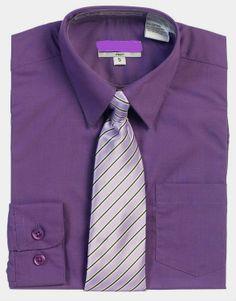 Boys Purple Dress Shirt, Toddler, 2T-12, Matching Mens, Click Shirt. $19.95